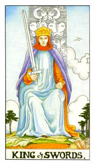 The king of swords tarot card from the Universal Waite deck